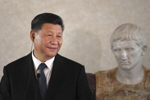 Čínsky prezident Si Ťin-pching na návšteve Talianska.