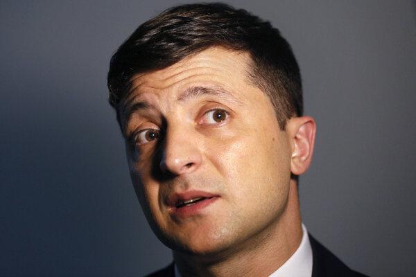 Kandidát prezidentských volieb na Ukrajine Volodymyr Zelenskyj.