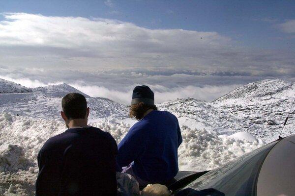 Pohľad na Golanské výšiny z Mount Hermon.