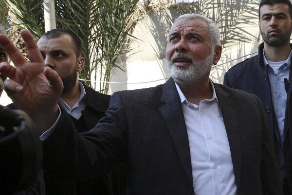 Ismáíl Haníja, jeden z čelných predstaviteľov hnutia Hamas.