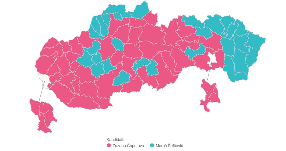 Víťazstvá v jednotlivých okresoch-