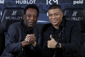 Legendárny Pelé a Kylian Mbappé.