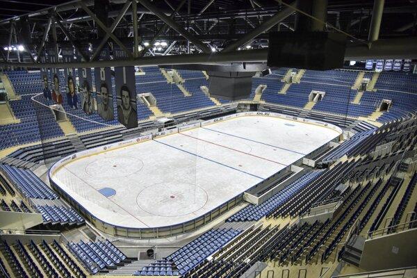 Zimný štadión Ondreja Nepelu, Bratislava. MS v hokeji 2019 sa konajú na Slovensku v štadiónoch v Bratislave a Košiciach 10. až 26. mája 2019.
