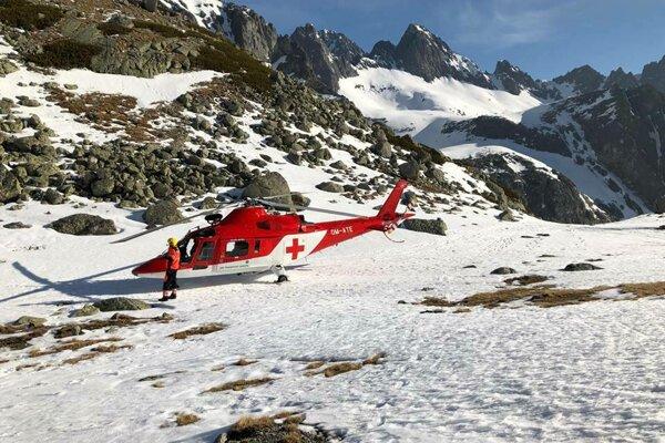 Vrtuľník leteckých záchranárov bol opäť v akcii.