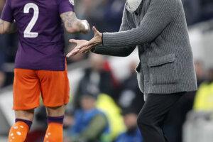 Rozčúlený Pep Guardiola.