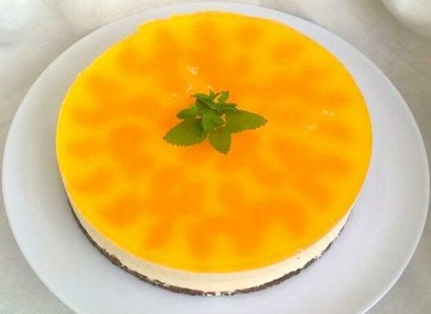 Nepečená mandarínková torta