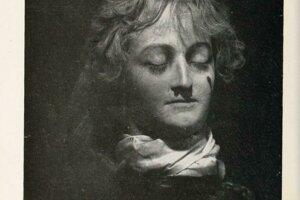 Mária Antoinetta tak, ako ju zachytila Marie Tussaud krátko po poprave.