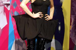 Lady Gaga v múzeu voskových figurín v Šanghaji.