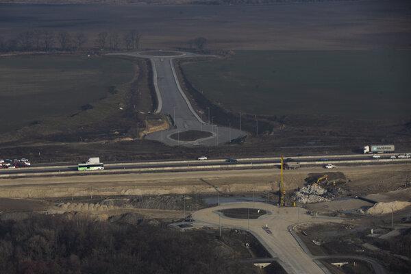 Letecké zábery z projektu D4/R7.