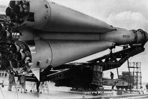 Raketa Vostok 1, ktorá vyniesla Jurija Gagarina do vesmíru.