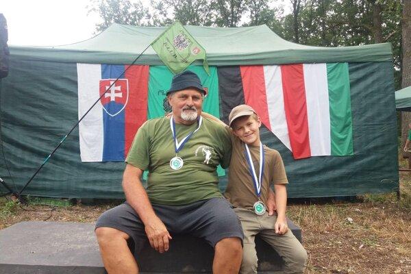 Paľko Šulek (vpravo) a tréner Ján Kapec.