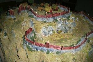 Model hradiska v Hornej Lehote, ktorý dnes vlastnia Železiarne Podbrezová.