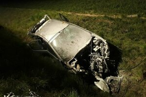Takto skončilo auto s opitým šoférom.