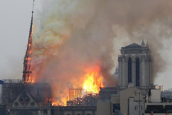 Požiar Notre-Dame.