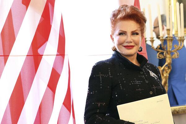 Americká veľvyslankyňa v Poľsku Georgette Mosbacherová.