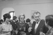 Peter Colotka na archívnej snímke zo 6. marca 1980 počas oslavy MDŽ v Bratislave.