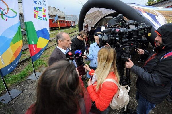 Podpredseda predstavenstva a riaditeľ úseku obchodu ZSSK Karol Martinček.