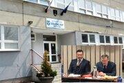 Súčasný starosta Ladislav Lörinc (vľavo) musí riešiť spor, ktorý vznikol ešte za éry jeho predchodcu Alfonza Halenára.
