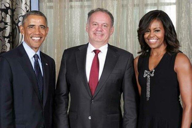 Erik Tomáš napísal, že Andrej Kiska sa nikdy nestretol s americkým prezidentom. Obrázok prikladáme.