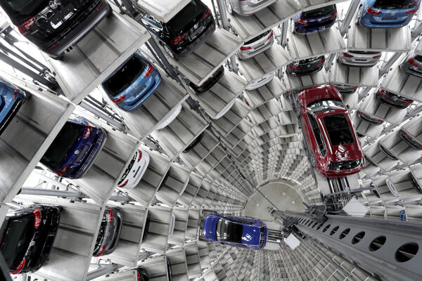 Továreň Volkswagenu v nemeckom Wolfsburgu.