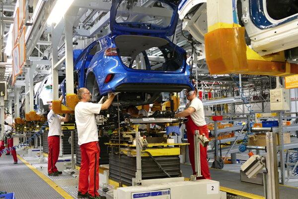 Výrobná hala spoločnosti Kia Motors Slovakia v Tepličke nad Váhom.