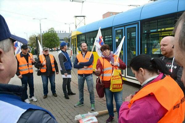 Štrajk vodičov DPMK.