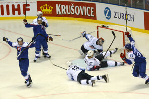 Gól v zápase Slovensko - USA na MS v hokeji 2019.