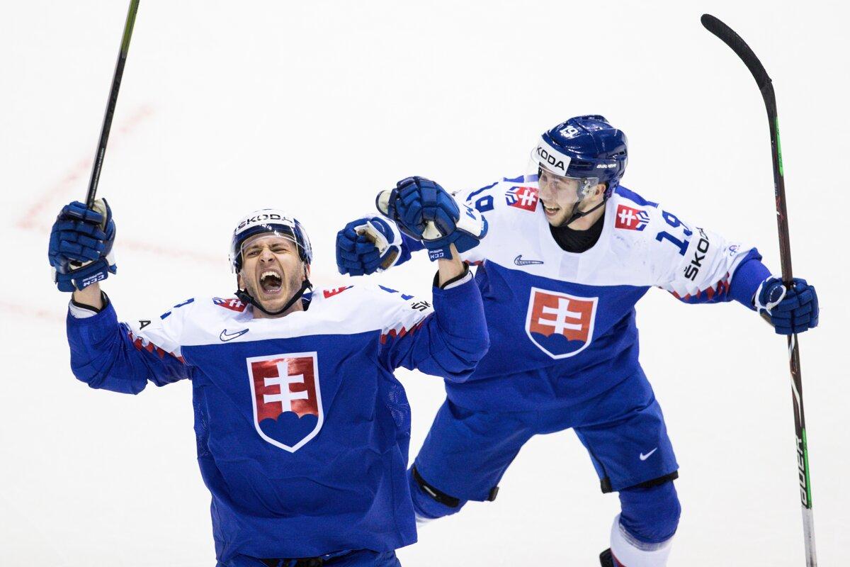 658260b2a389a Slovenský obranca Martin Marinčin sa raduje z gólu do siete Fínska v zápase  na MS v