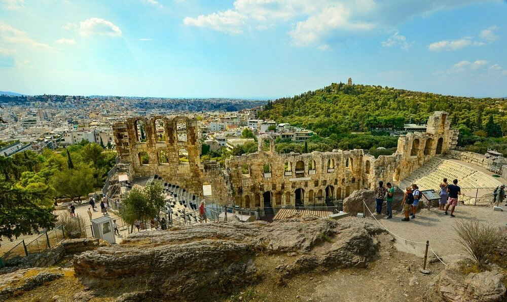 Atény, Grécko.