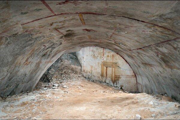 Objavená miestnosť v paláci cisára Nera spred takmer dvetisíc rokov.