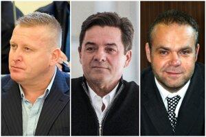 Ivo Hricik, Marian Kočner a Radovan Krejčíř.