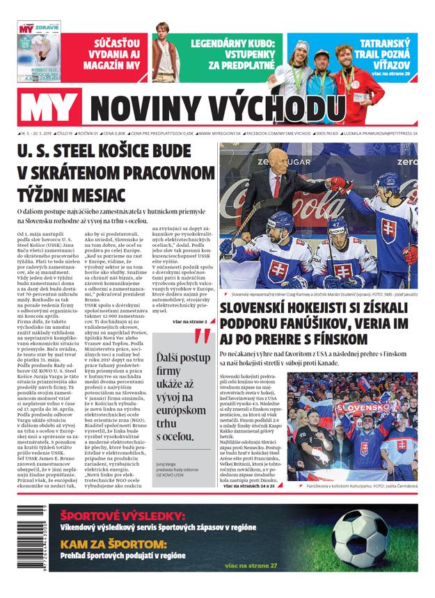 Nové číslo MY Noviny východu je v predaji od 14. mája.
