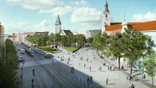 Viac miesta pre chodcov. Pozrite sa, ako sa zmení centrum Bratislavy (video)
