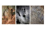 Stopy nájdená v talianskej jaskyni Bàsura na severe Talianska.