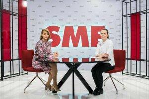 Zuzana Kovačič Hanzelová a riaditeľka SNG Alexandra Kusá.