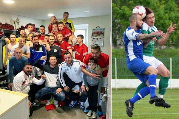 Trstice sa tešili z výhry 1:0 v derby nad Vlčanmi, zrodila sa v poslednom minúte. Druhá snímka je zo zápasu V. Meder - Lehnice (1:2).