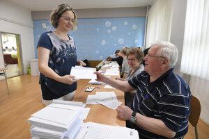 Momentka z volieb v Košiciach.