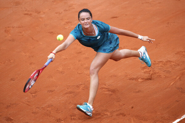 Viktória Kužmová na Roland Garros 2019.