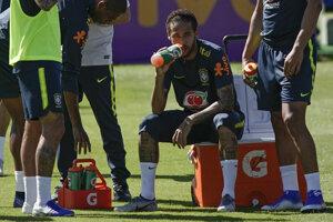 Brazílsky futbalista Neymar počas tréningu reprezentácie pred Copa América 2019.