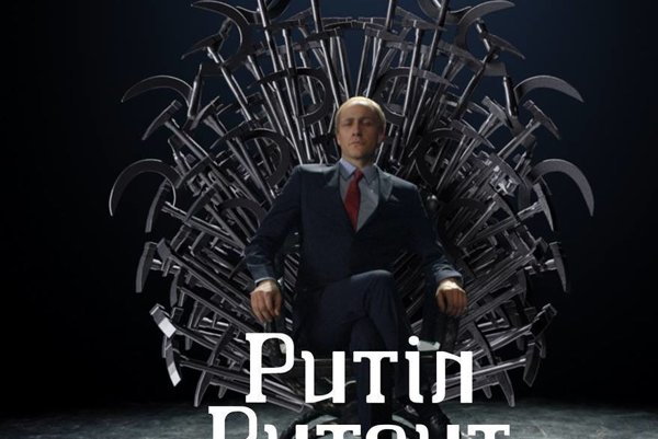 Slovinský komik Klemen Slakonja ako Putin.