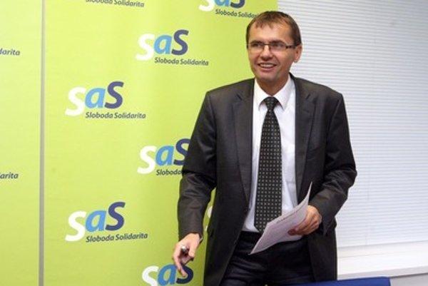Podpredseda SaS Galko si trúfa na ekonomický rezort.