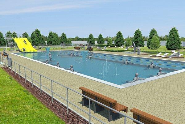 Vizualizácia bazéna v Nemšovej.