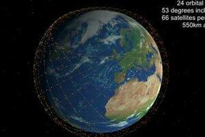 Prvá fáza celého projektu má pozostávať z viac ako tisíc družíc Starlink na obežnej dráhe vo výške 550 kilometrov.