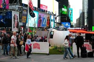 Ecocapsule na Time Square