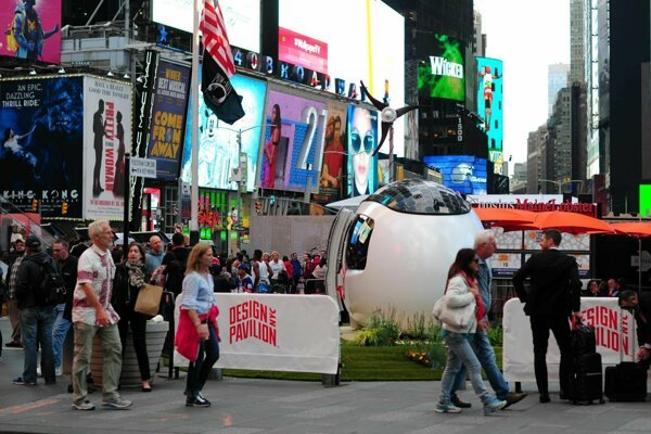 Ecocapsule na Time Square