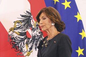Dočasná rakúska kancelárka Brigitte Bierleinová.