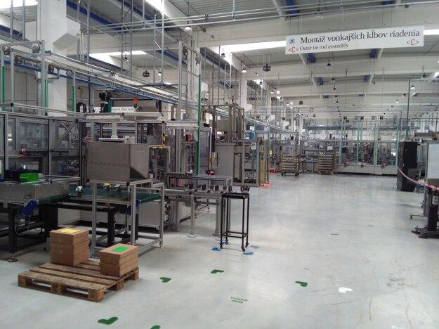 Výrobná hala spoločnosti ZF Friedrichshafen AG v Detve.