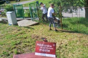 Dobrovoľníci na Základnej škole s materskou školou Pavla Demitru v Dubnici nad Váhom.