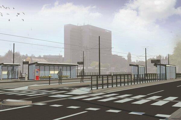 Počas opráv električkovej trate z Karlovej Vsi do Dúbravsky zmodernizujú aj zastávky.