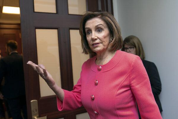 Predsedníčka Snemovne reprezentantov amerického Kongresu z Demokratickej strany Nancy Pelosiová.